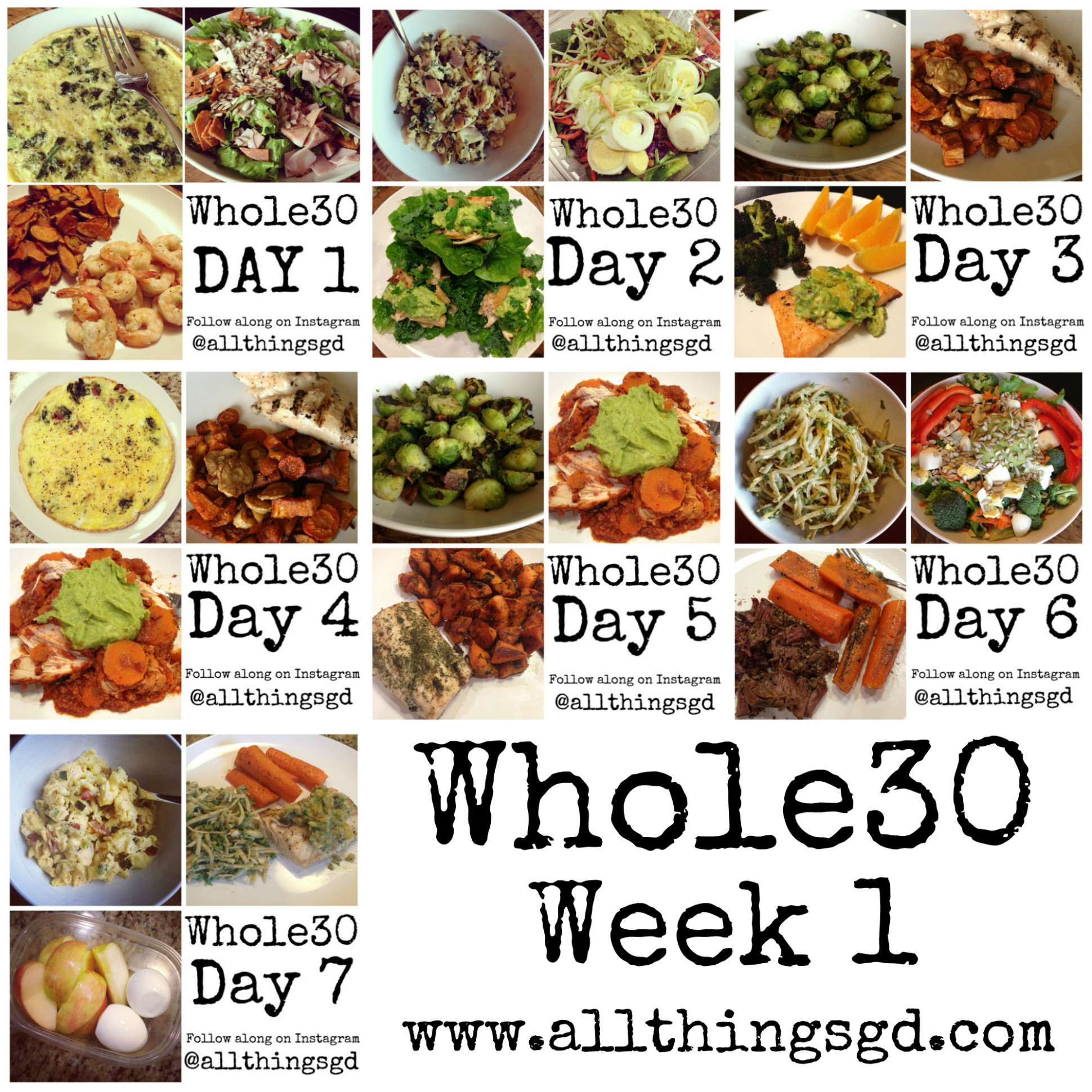 Whole30: Week 1 - All Things G&D - whole30 dinner recipes