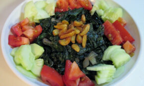 Wilted Kale Salad With Deep Fried Garlic & Lemon – Kale Recipes Vegetarian