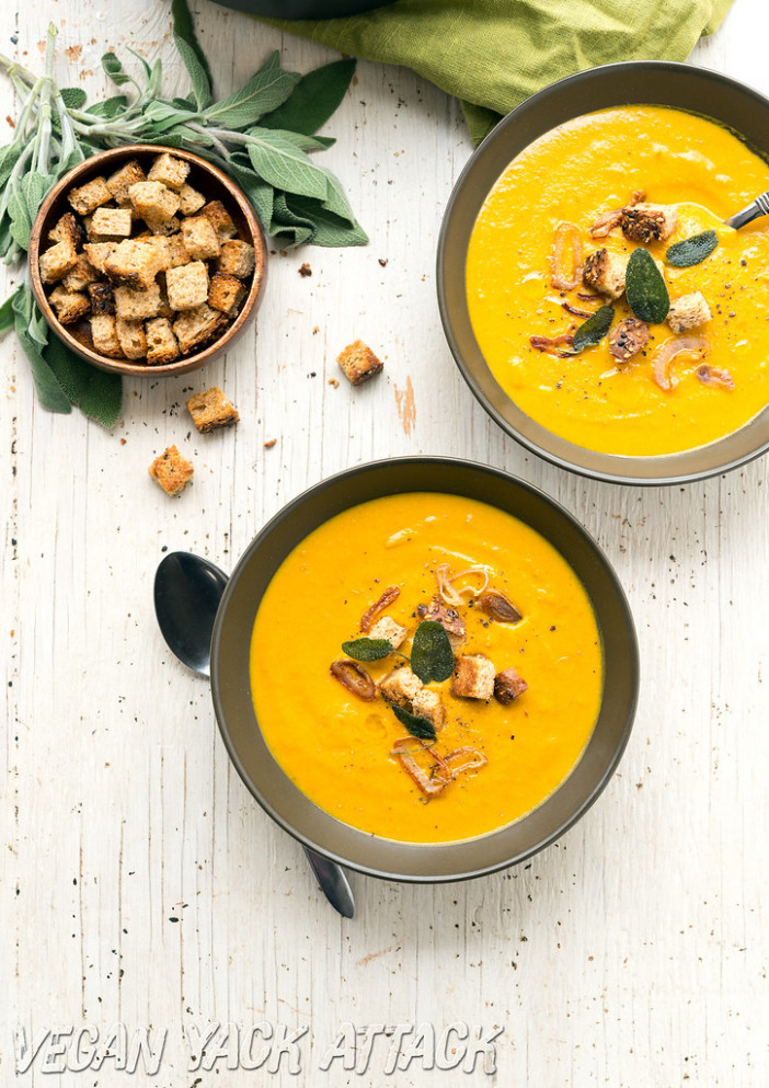 Winter Bisque With Crispy Sage & Shallots - Gluten Free Dairy Free Recipes Dinner