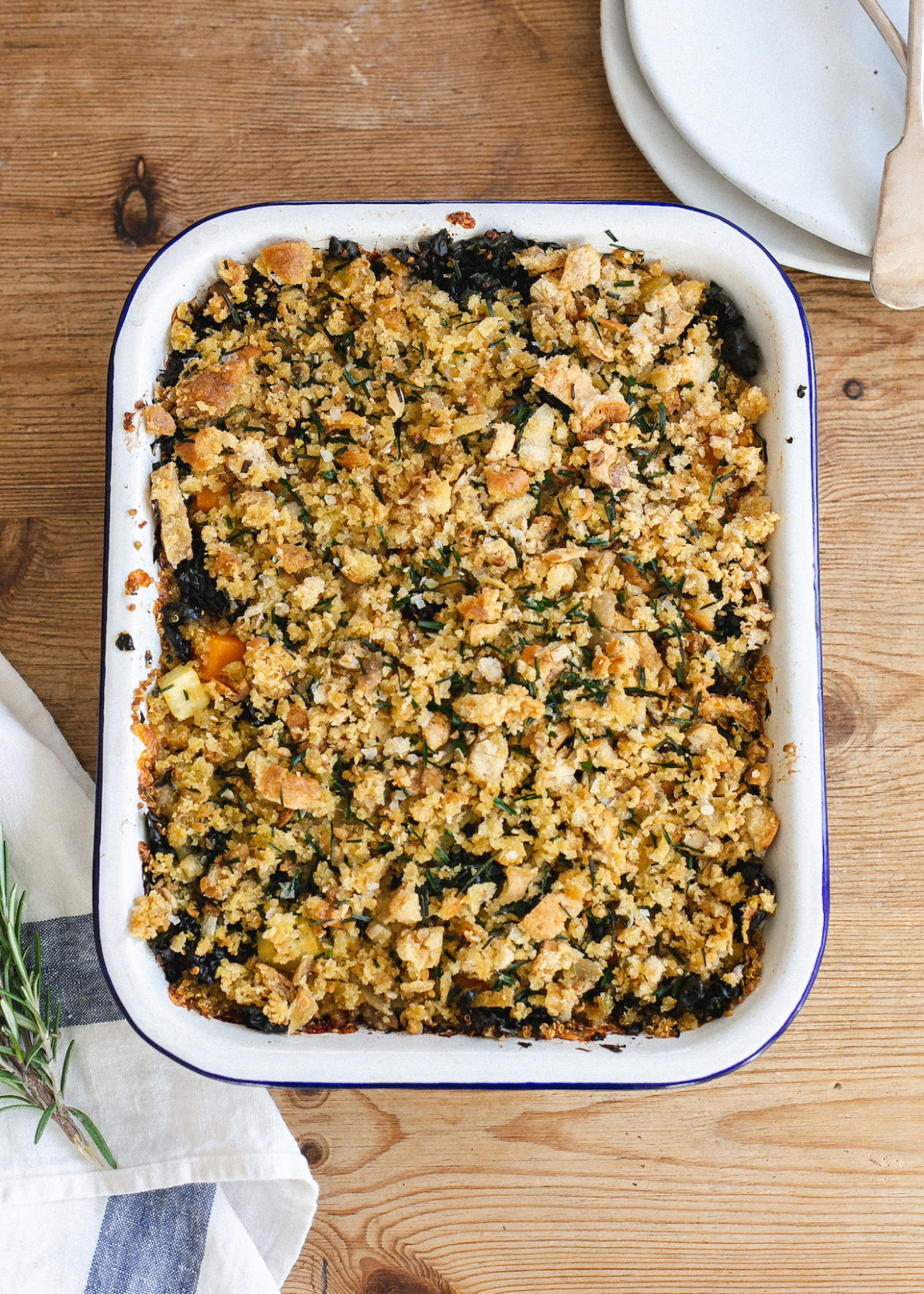 Winter quinoa low FODMAP vegetable bake - low fodmap recipes vegetarian