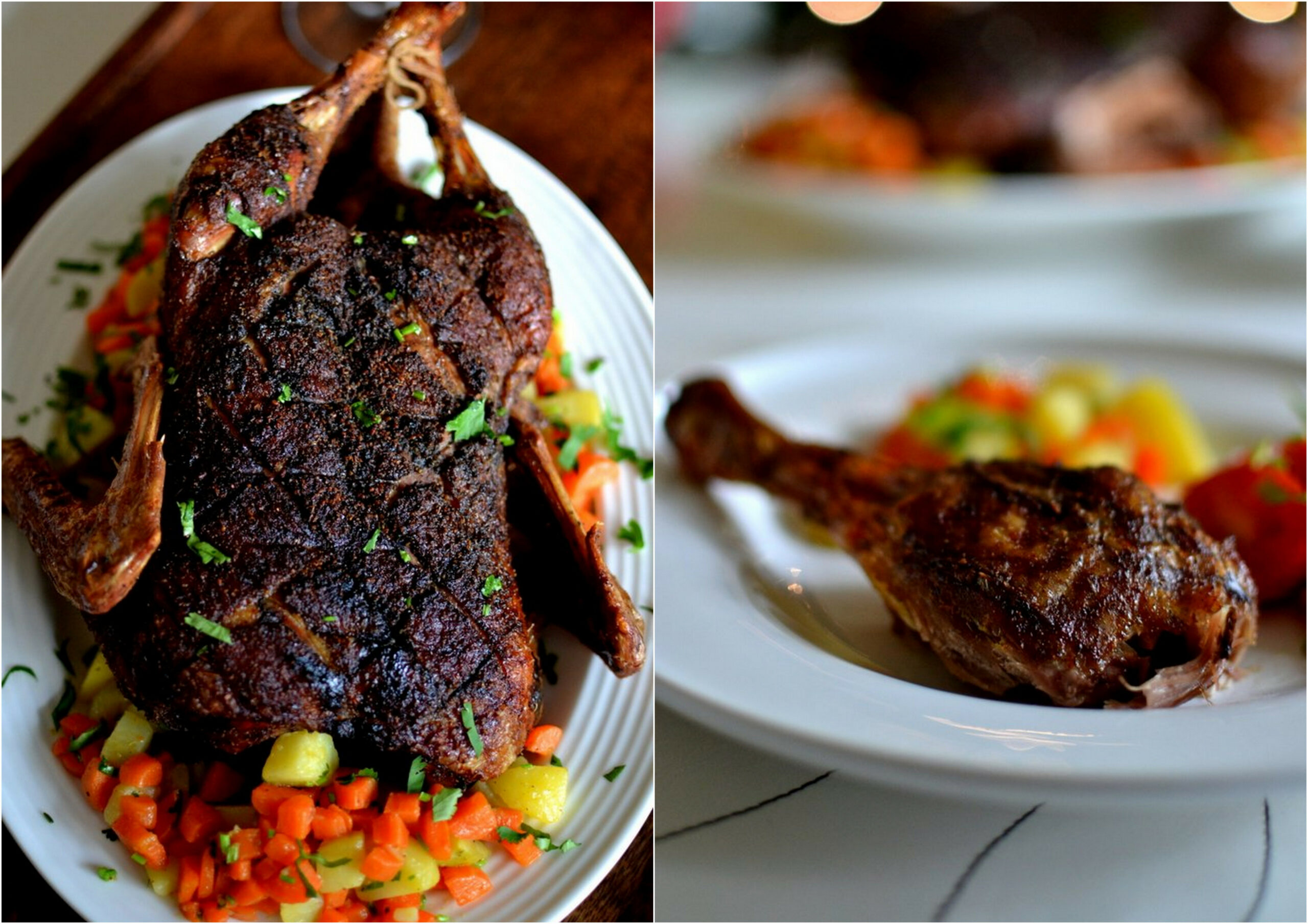 Wonderful Christmas Time: Whole Roasted Duck with Kerala Spice Rub - dinner recipes kerala style
