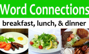 Word Connections: Breakfast, Lunch, & Dinner – The ..