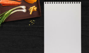 Writing Pad, Vegetables, Table, Tray – Vegetarian Food Recipes