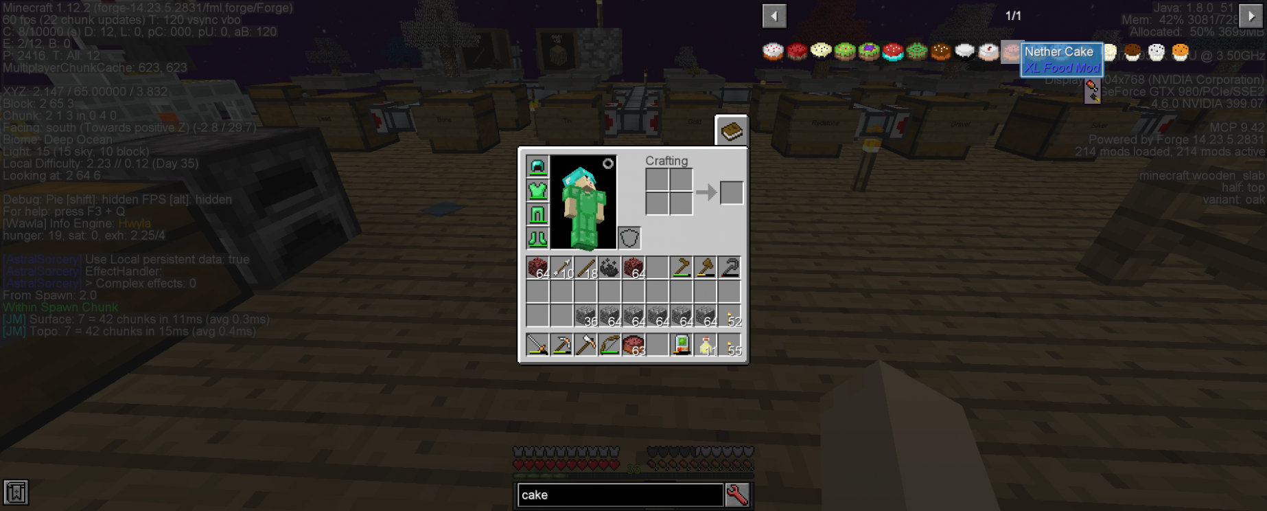 XL Food Nether Cake recipe should be removed to not confuse ..