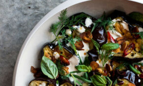 Yotam Ottolenghi's Aubergine & Herb Salad With Garlic ..