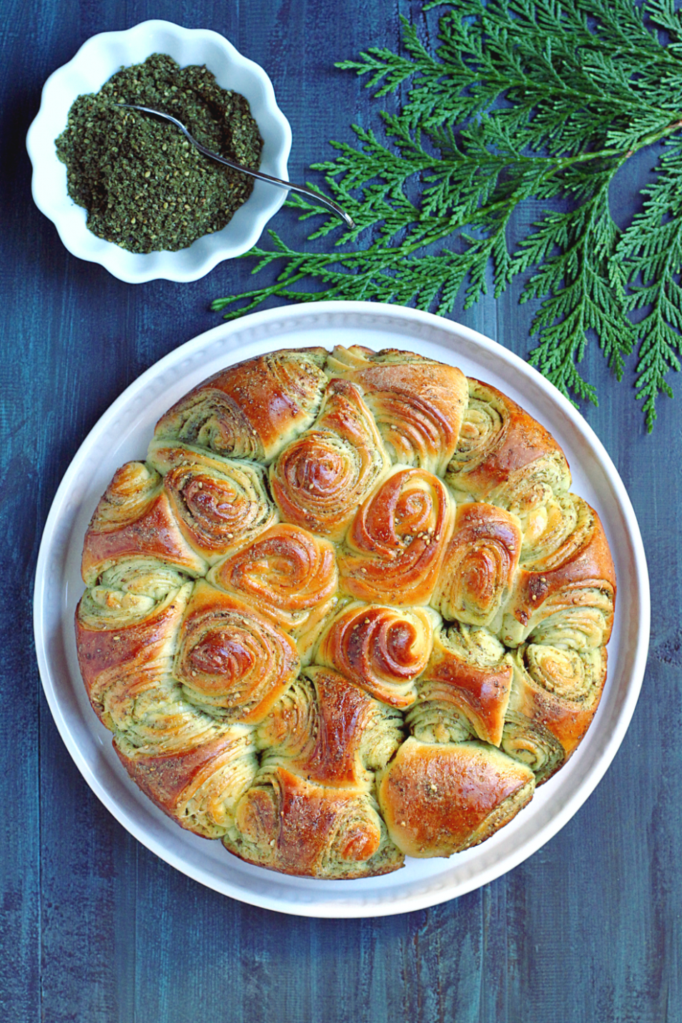 Za'atar Pull Apart Bread - Two Of A Kind - Lebanese Food Recipes