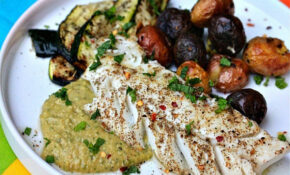 Za'atar-Rubbed Cod With Spicy Chickpea Puree and Grilled ...