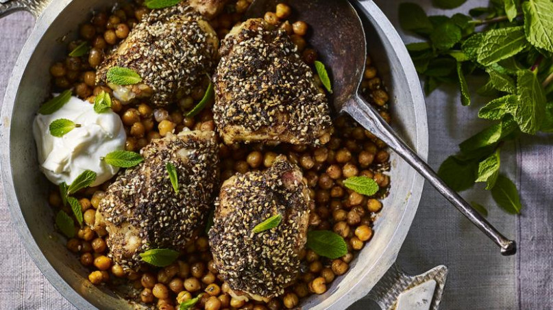 Za'atar Chicken With Chickpeas And Garlic Yoghurt Recipe ..