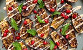 Za'atar Roasted Eggplant With Tahini And Pomegranate – Food Zaatar Recipes