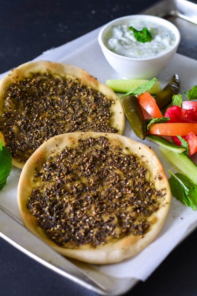 Zaatar Manakeesh - A popular baked bread from Middle East ...