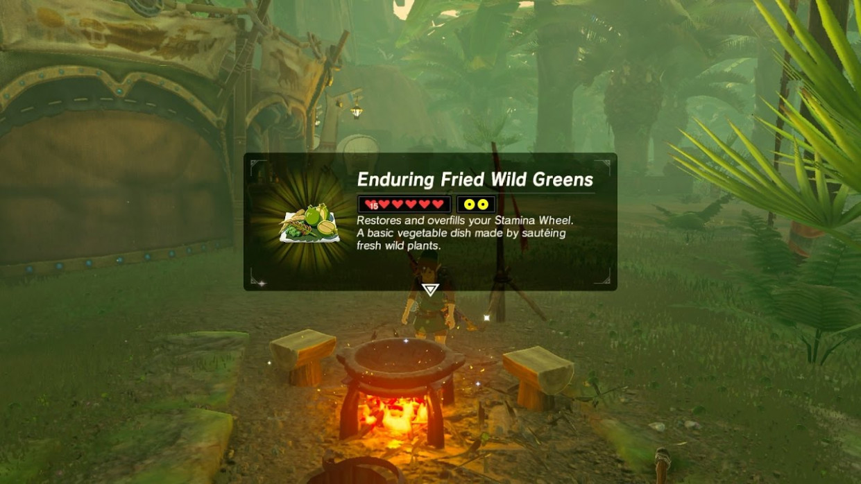 Zelda: BOTW (Best Stamina Recipe - Enduring Fried Wild ..