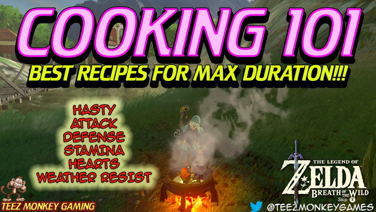 Zelda Breath of the Wild - Best Recipes - YouTube - best food recipes zelda breath of the wild