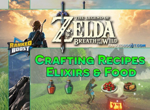 Zelda Breath of the Wild Crafting Recipes   Food Cooking ..