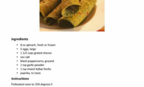 Zero Carb Spinach Cheese Flatbread Recipe Card | Low Carb ..