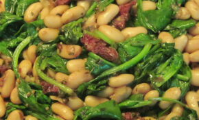Zesty Cannellini Beans With Spinach & Sundried Tomatoes – White Bean Recipes Vegetarian