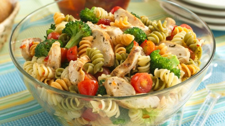 Zesty Potluck Pasta Salad recipe from Betty Crocker - chicken recipes zesty italian dressing
