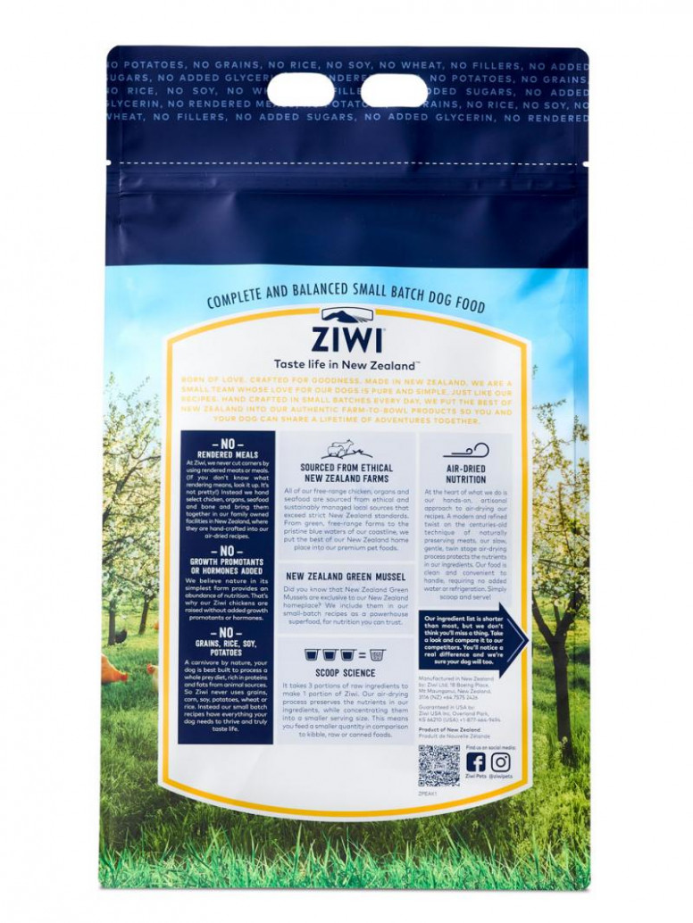 ZIWI Peak Air-Dried Free-Range Chicken For Dogs | Ziwi Pets - dog food recipes with chicken