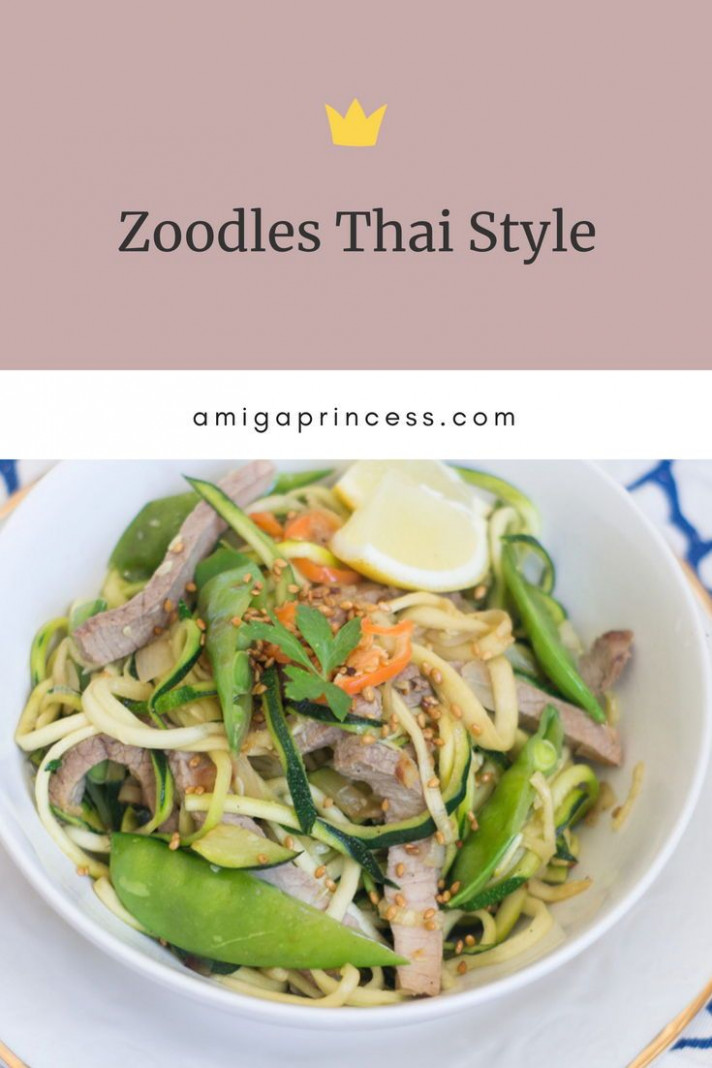 Zoodels Thai Style, how to make Zucchini Noodles, low carb ..
