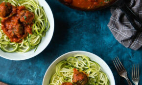"Zoodles With Vegan ""Meatballs"" (Lentil Meatballs — Vegan And Gluten Free) 
