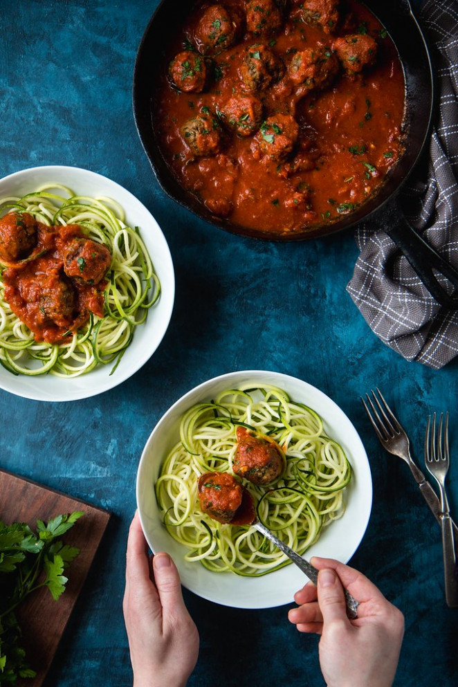 "Zoodles With Vegan ""Meatballs"" (Lentil Meatballs    Vegan And Gluten Free) 