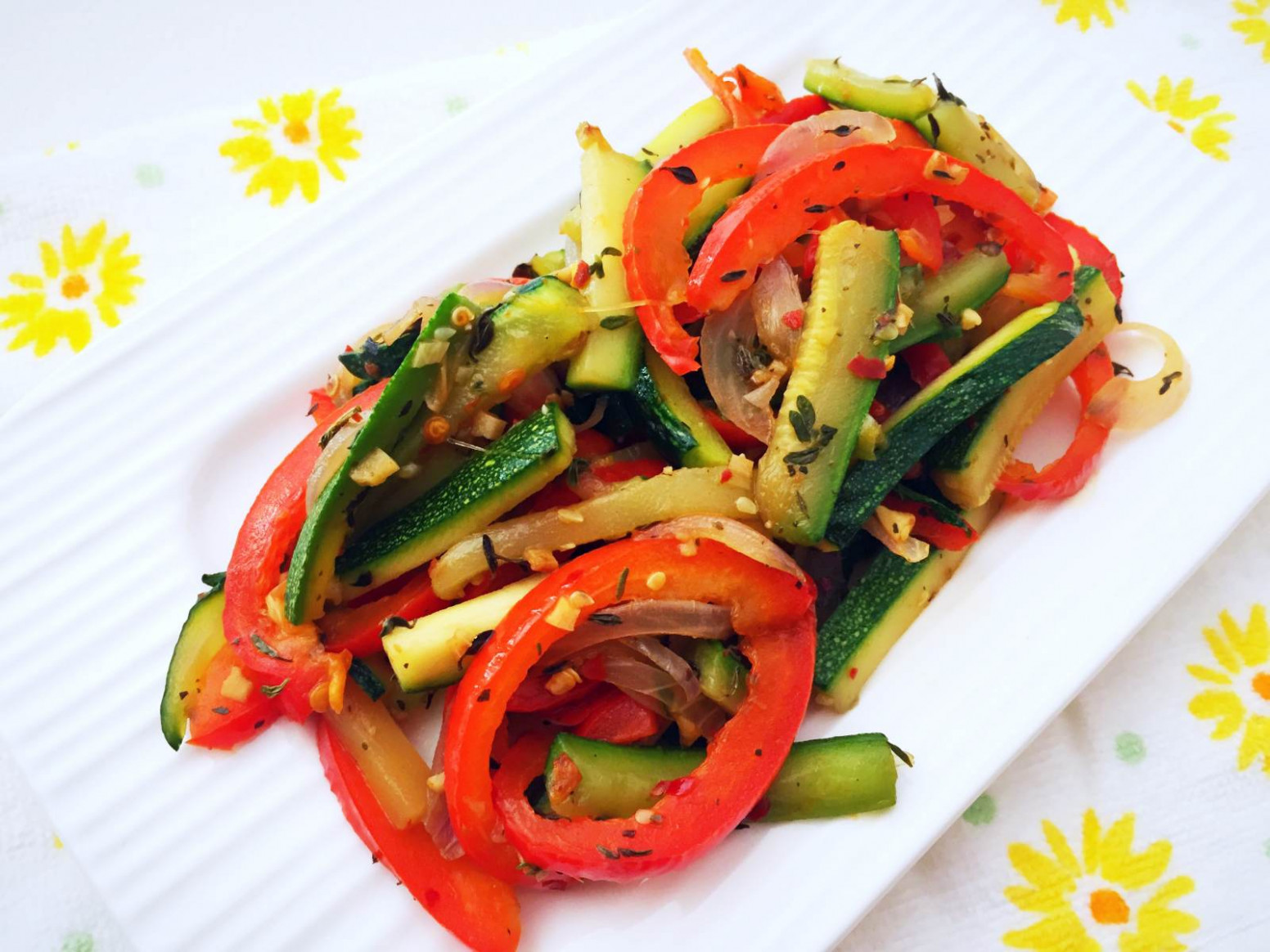 Zucchini And Bell Pepper Stir Fry Recipe - healthy recipes vegetarian indian