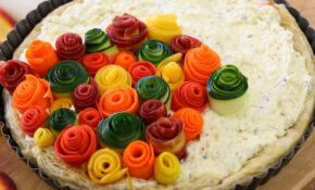 Zucchini And Carrots Roses Tart | Buona Pappa – Vegetable Recipes Zucchini