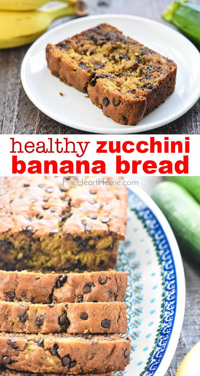 Zucchini Banana Bread - healthy zucchini recipes