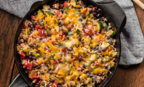 Zucchini, Black Bean And Rice Skillet – Recipes Vegetarian Low Calorie