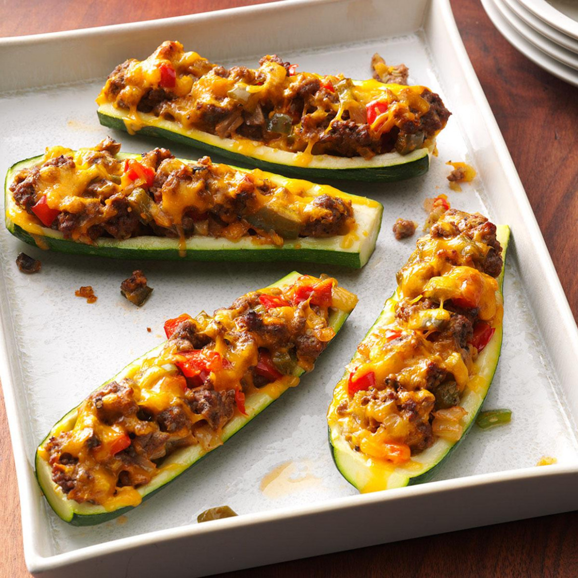 Zucchini Boats - healthy dinner recipes zucchini