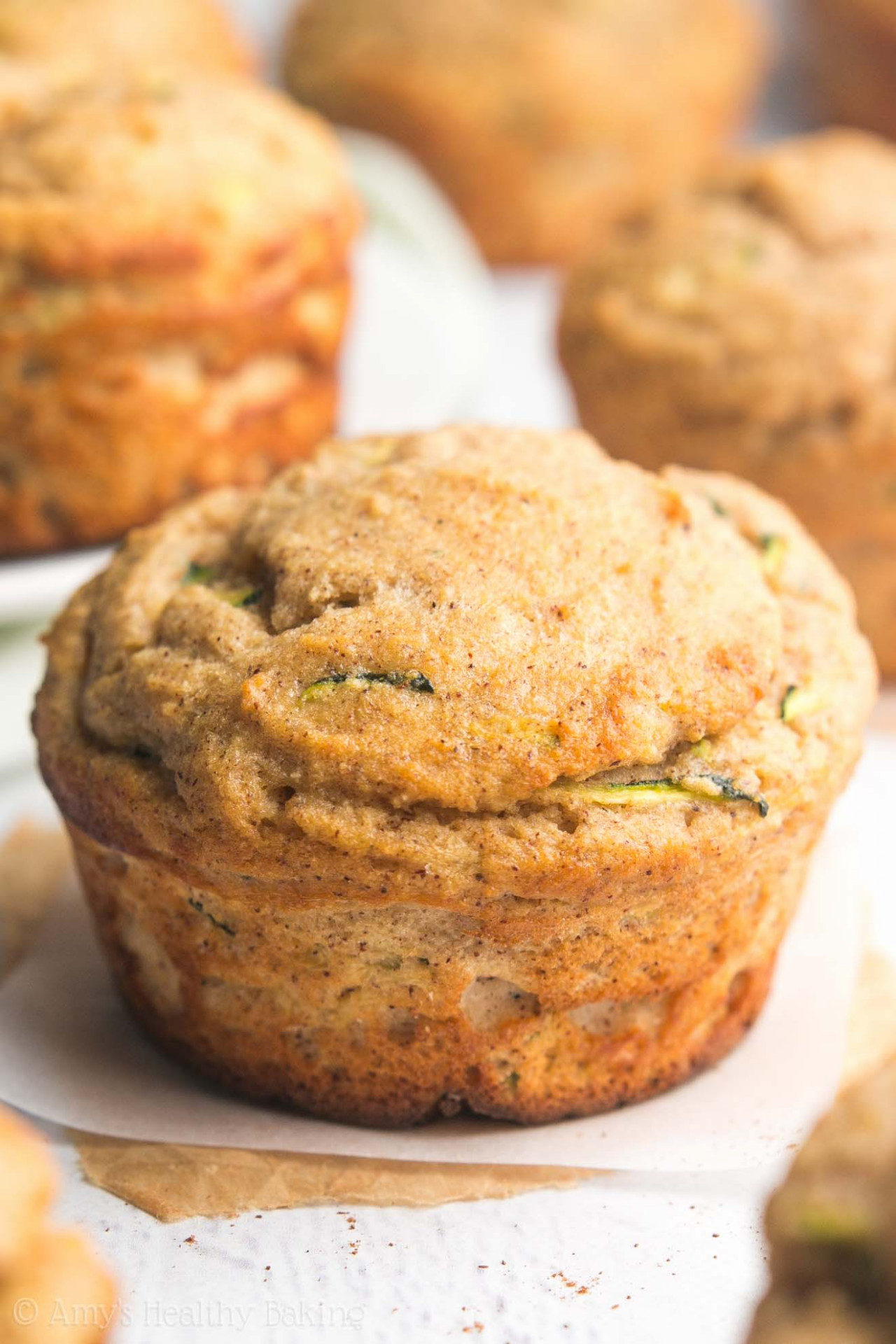 Zucchini Bread Protein Muffins | Amy's Healthy Baking - Recipes Baking Healthy