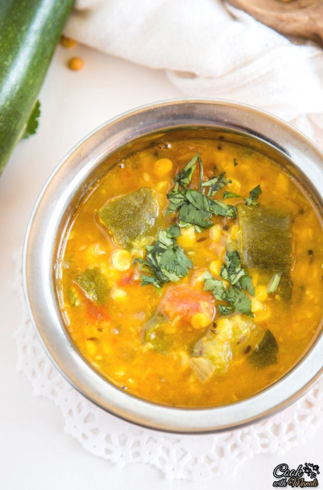 Zucchini Chana Dal is a healthy, flavorful and vegan dish ..