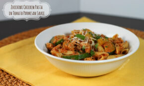 Zucchini Chicken Pasta In Tomato Parmesan Sauce – Emily Bites – Weight Watchers Chicken And Zucchini Recipes