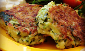 zucchini fritters - my lovely little lunch box