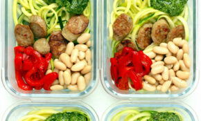 Zucchini Noodle Bowls With Chicken Sausage & Pesto – Dinner Recipes With Zucchini And Chicken