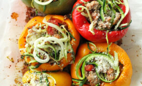 Zucchini Noodle, Quinoa And Turkey Stuffed Peppers – Recipes Vegetarian Stuffed Peppers