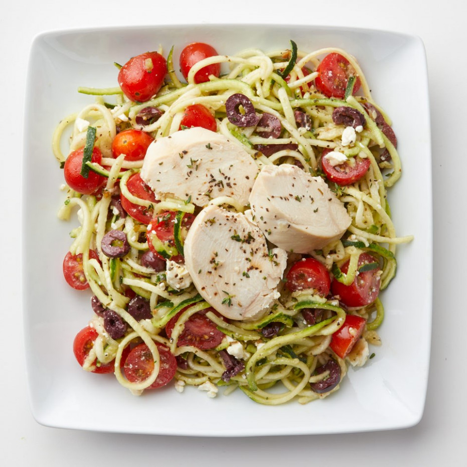 Zucchini Noodle Salad with Chicken - zucchini noodles and chicken recipes