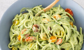 Zucchini Noodles With Avocado Sauce – Simple Vegan Blog – Recipe Vegetarian Zucchini