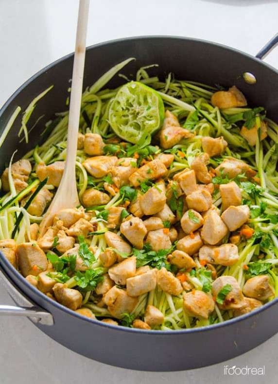 Zucchini Noodles with Chicken, Cilantro and Lime ..