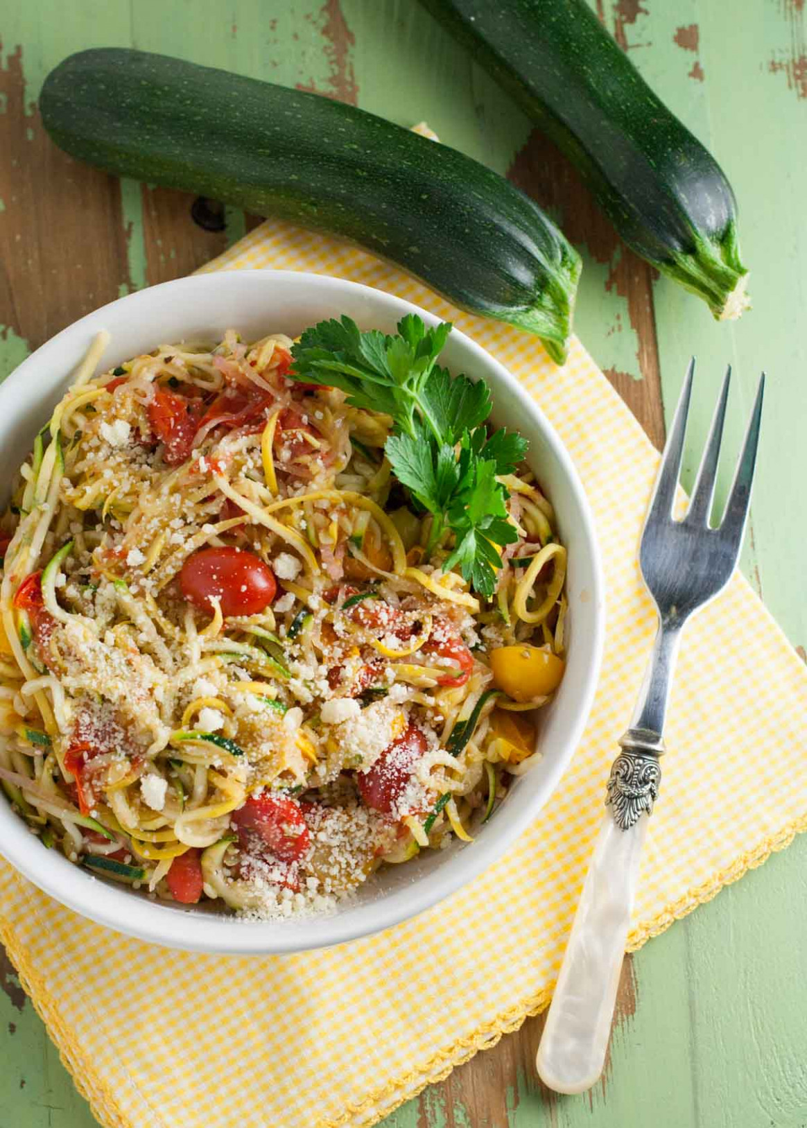 Zucchini Noodles With White Wine Sauce - Healthy Dinner Recipes Zucchini Noodles