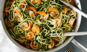 Zucchini Pasta With Lemon Garlic Shrimp – Downshiftology – Healthy Recipes Zucchini Noodles
