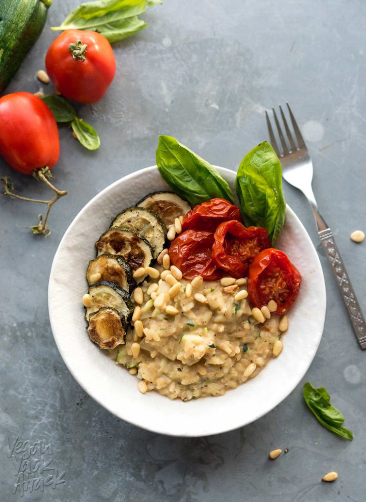 Zucchini Risotto with Roasted Tomatoes - dinner recipes gluten and dairy free