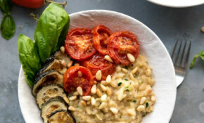 Zucchini Risotto With Roasted Tomatoes – Vegan Recipes Dinner Zucchini