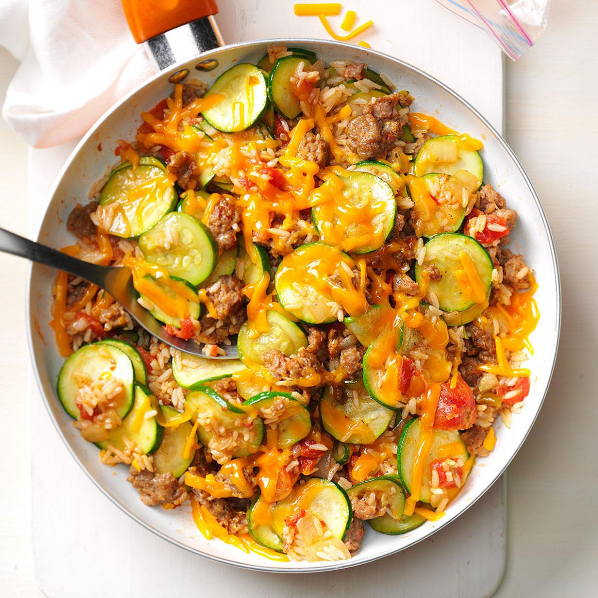 Zucchini & Sausage Stovetop Casserole - jimmy dean sausage recipes dinner