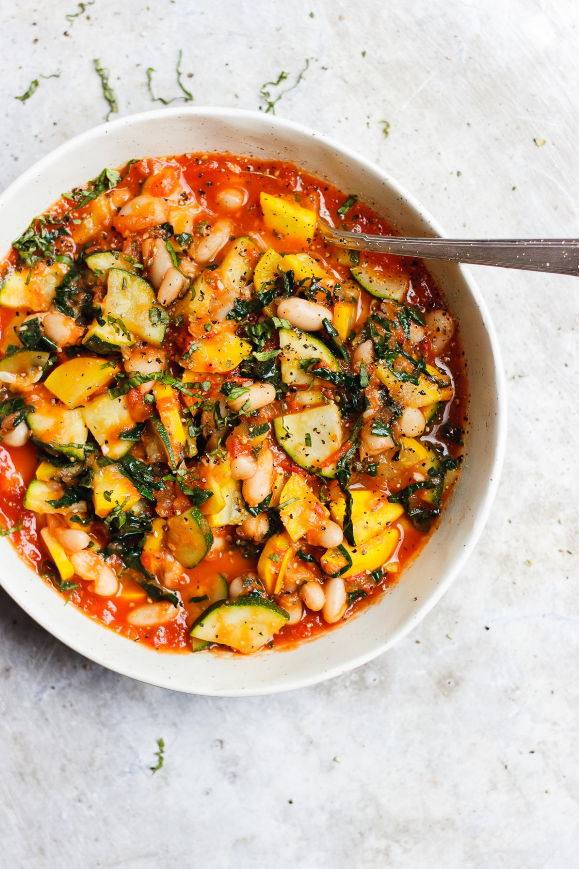 Zucchini Stew with Tomato Sauce and White Beans (vegan ..