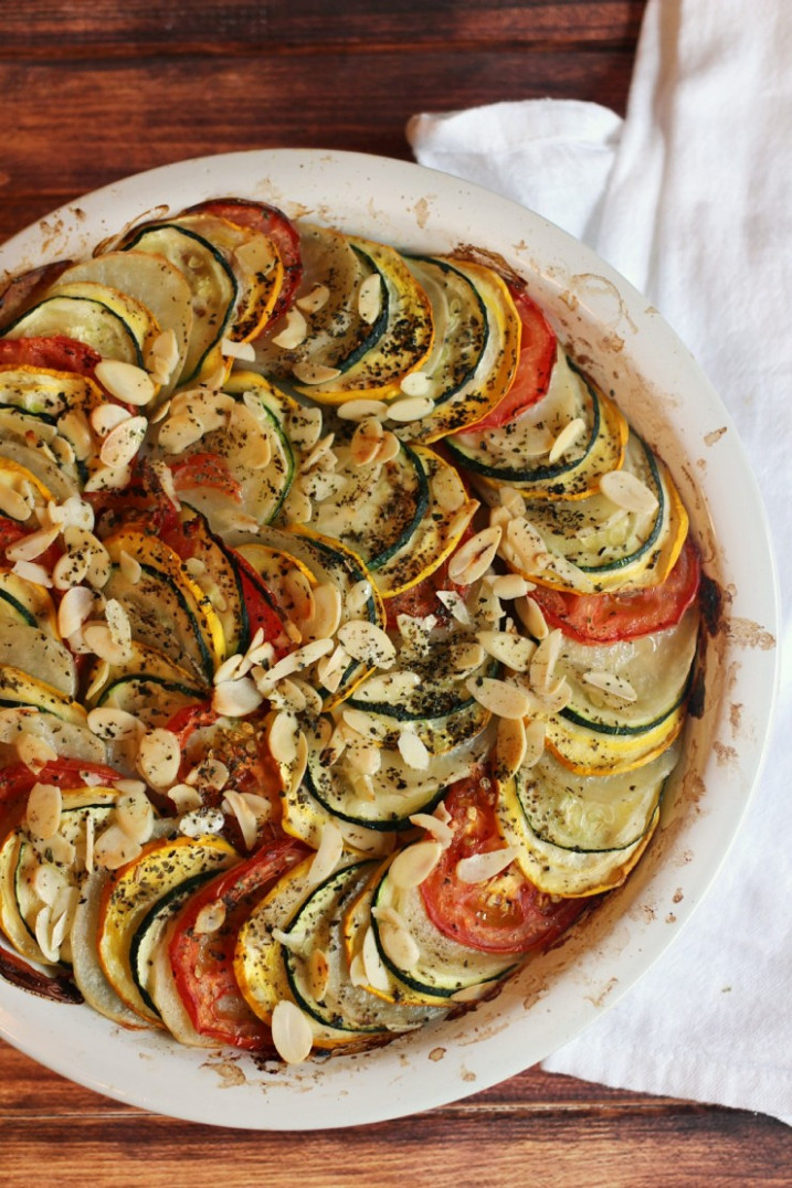 Zucchini, Tomato and Potato Casserole - vegetarian recipes zucchini tomatoes