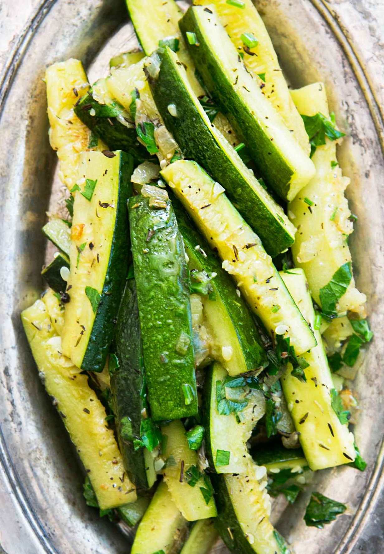 Zucchini with Thyme - healthy zucchini recipes side dish